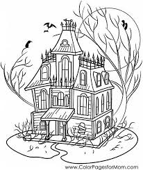 Parents, teachers, churches and recognized nonprofit organizations may print or copy multiple house coloring. Coloring Pages For Adults Halloween Haunted House Coloring Page Halloween Coloring Book House Colouring Pages Halloween Coloring Pages