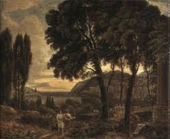 Classical Landscape With Figures Near The Sea By George