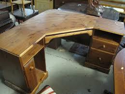 lot 632 modern pine corner desk unit ed drawers and cupboard