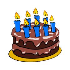 Birthday Cake Clipart Gif