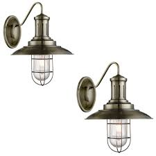 caged lighting. pair searchlight 6503ab fisherman antique brass industrial finish wall light with caged u0026 seeded glass shade caged lighting c