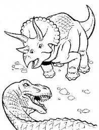 Small Picture T Rex Fighting with Triceratops Coloring Page Color Luna