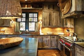 image of barnwood rustic kitchen cabinets