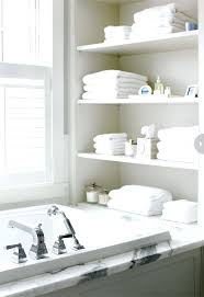 recessed bathroom shelvingrecessed shelving beside the bathtub view in  gallery open shelving at end of bathtub