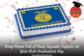 Bring Home Call Of Duty Cupcake Toppers On Your Kids Graduation Day