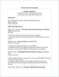 Cheap Resumes Fresh Nanny Resume Example Luxury Babysitting Skills Cool Nanny Resume Skills