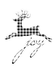 buffalo check small reindeer joy christmas printable check small