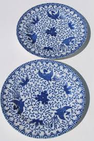Blue And White China Pattern Mesmerizing Vintage Japanese Blue White China Phoenix Ware Birds Pattern