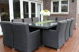 wicker outdoor dining set. Royale 10 Seater Wicker Dining Patio Setting, Charcoal Hazelnut Outdoor Set I