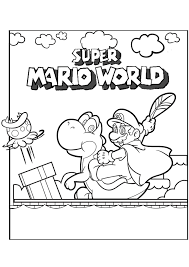 Mario Bros Super Mario World Mario Bros Kleurplaten Kleurplaat