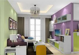 3D Lyon green and purple living room