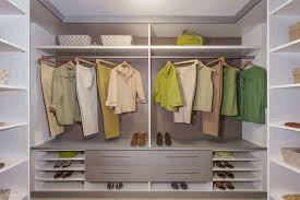 contemporary walk in closet white and grey