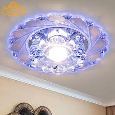 crystal led colorful light living room ceiling fixture chandelier decor