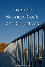 Performance Objectives Examples Custom Example Business Goals And Objectives The Thriving Small Business