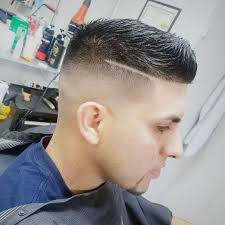 short spike with side line fade haircuts