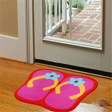 details about super cute bright colorful beach style girly flip flop print mat rug 23 x16