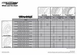 Tire Equal Chart 6807l Tire Chart Traxxas