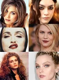 makeup 90s versus 2016