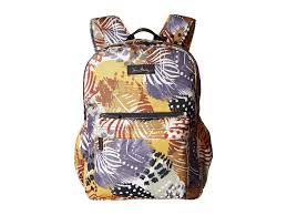 Vera Bradley Women's Lighten Up Grande Laptop Backpack Painted Feathers |  Faux leather backpack, Laptop backpack, Bags
