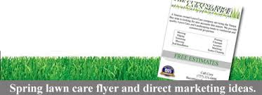 lawn care advertising templates spring lawn care flyer and direct marketing ideas lawn care