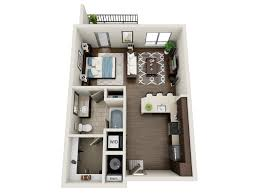 Floor Plans Element Uptown - Studio apartment floor plans 3d