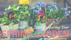 start preparing your spring garden