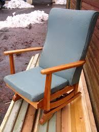 platform rocking armchair spring rocker chair nursing chair mid century 1950 60 s danish style