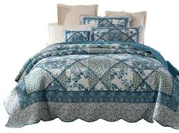 Dark Blue Quilt Bedding Quilt Coverlet Bedding Sets Dark Blue ... & Royal Blue Quilt Bedding Dark Blue Quilted Bedspread Tache Petal Dance 100  Cotton Floral Blue Quilt Adamdwight.com