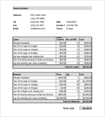 Roofing Invoice Printable Roofing Invoice Download Them Or Print
