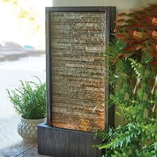 G Slate Water Wall Outdoor Fountain With LED Light