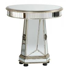 distressed mirrored furniture. Torino Distressed Wooden Round · Mirror Side Table Mirrored Furniture E