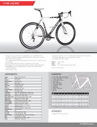 Spec Sheet Ridley X Fire 105 Disc Carbon Cyclocross Bike