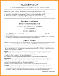 Template Resume Template New Graduate Nurse Copy Nursing Samples