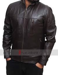 brown arrow bikers stephen amell leather jacket