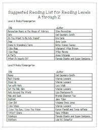 Student Book List S For Grades 1 8 Complete With Dra Conversion Chart