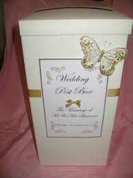 How To Decorate A Wedding Post Box Ivory post box wedding cards with gold ribbon butterfly 9