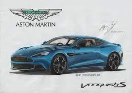 Aston Martin Vanquish S Ar Motorsport Art Draw To Drive