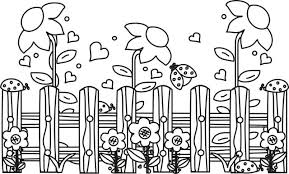 Vegetable Garden Coloring Pages Garden Coloring Page Flower Garden