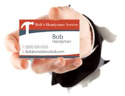 handyman business handyman business cards made easy