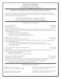 Resume Registered Nurse Examples Clinical Director Resume Registered Nurse Resume Examples Best 6