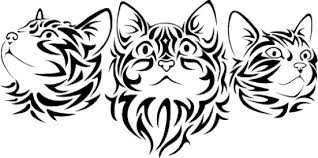 Small Picture Tribal Cat Coloring Pages Coloring Coloring Pages