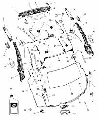 2014 chrysler 200 convertible hard top attaching parts diagram i2301137
