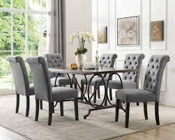 bras inc soho 7 piece dining set table 6 chairs grey