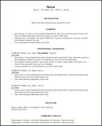 List Of Resume Objectives Sample Job Resume What Is A Job Resume