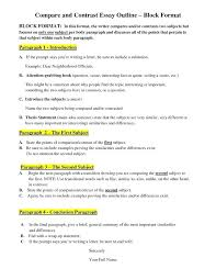 Compare Contrast Essay Examples Middle School