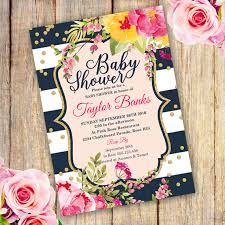 Baby Shower Invitations That Can Be Edited Watercolor Floral Baby Shower Invitation Template Edit With Adobe