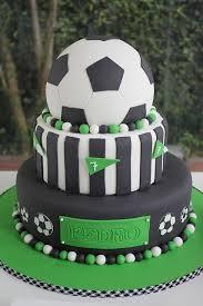 soccer birthday cake football ball field grass crafted fondant buttercream gate wicket coach game teams referee mentator stadium