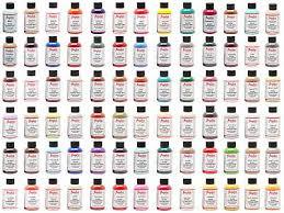 Angelus Brand Acrylic Leather Vinyl Paint Color Chart