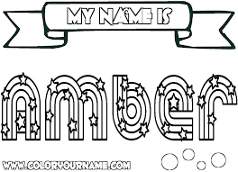 Coloring Pages That Say Your Name Coloring Pages For Girls