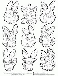 Small Picture Eevee Pokemon Coloring Pages GetColoringPagescom